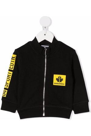 Dsquared2 Hoodies - Contrasting logo zip-up sweatshirt