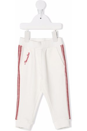 MONNALISA Sports Trousers - Houndstooth logo trousers