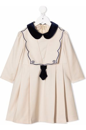 Gucci Embroidered-logo sailor dress