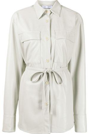 PROENZA SCHOULER WHITE LABEL Faux-leather shirt