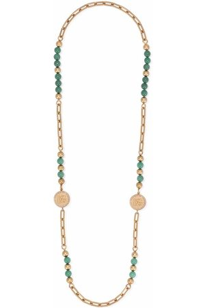 Dolce & Gabbana Men Necklaces - Beaded logo charm necklace