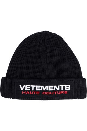 Vetements Embroidered logo beanie