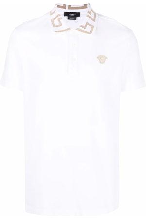 VERSACE Men Polo Shirts - Greca-collar polo shirt