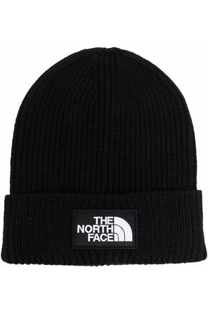 The North Face Men Beanies - Box logo-patch ribbed beanie