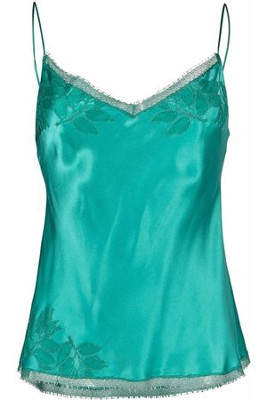 CARINE GILSON Women Vests - Embroidered silk camisole top