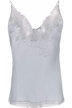 CARINE GILSON Women Vests - Embroidered charmeuse camisole