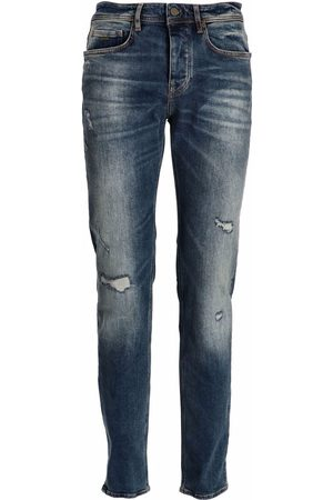 HUGO BOSS Men Tapered - Distressed tapered-fit jeans