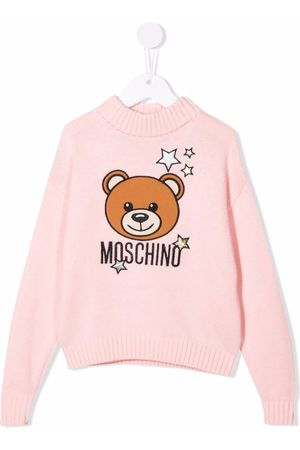 Moschino Starry Teddy Bear embroidered jumper