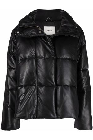 MAX & MOI Women Leather Jackets - Leather padded-design jacket