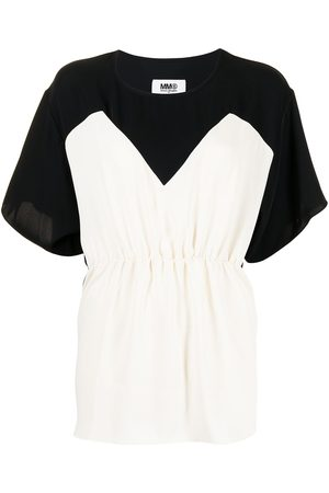MM6 MAISON MARGIELA Women Tops - Two-tone ruched top