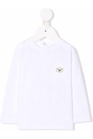Emporio Armani Logo-patch longsleeved T-shirt