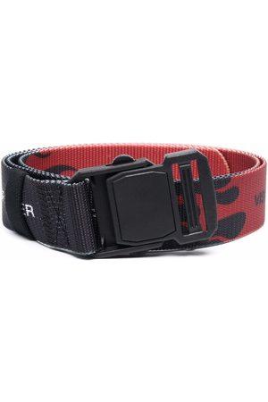 Vision Of Super Boys Belts - Flame-print buckle belt