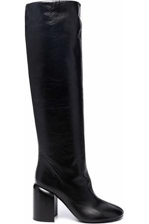 Jil Sander Nikky round-toe block-heel boots