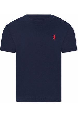 Ralph Lauren Short Sleeve - Logo-embroidered cotton T-shirt