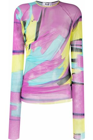 Msgm Women Tops - All-over graphic top