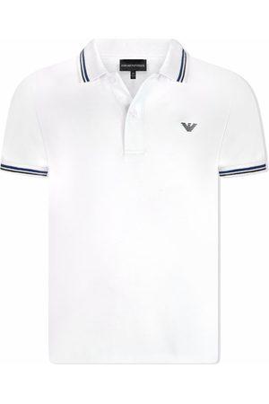 Emporio Armani Boys Polo Shirts - Logo-print cotton polo shirt