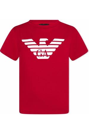 Emporio Armani Boys Short Sleeve - Logo-print cotton T-shirt