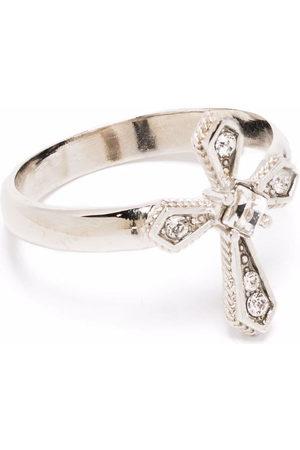 Dolce & Gabbana Men Necklaces - Crystal-embellished cross ring