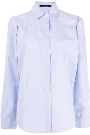 Rokh Women Long Sleeve - Pinstripe-print tailored long-sleeve shirt