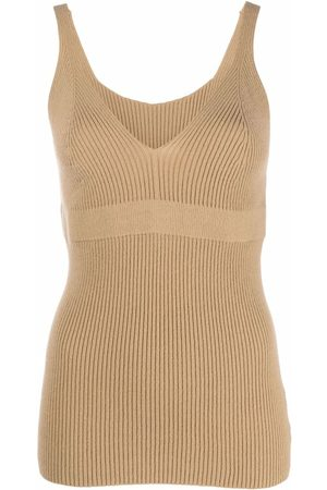 AMI AMALIA Ribbed knit vest top