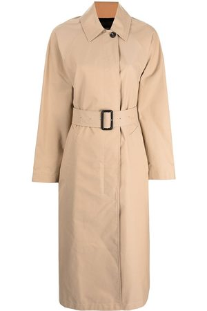 Paul Smith Women Trench Coats - Stripe-print belted trench coat