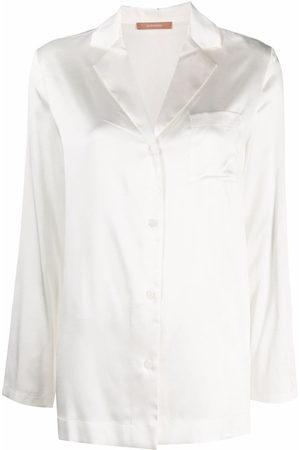 12 STOREEZ Patch pocket silk shirt