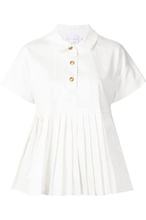 Kika Vargas Pleated-detail short-sleeved shirt