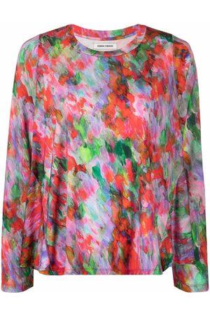 HENRIK VIBSKOV Women Tops - Abstract print jersey top