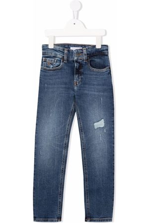 Calvin Klein Ripped-detail jeans