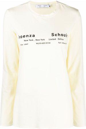 PROENZA SCHOULER WHITE LABEL Logo-print long-sleeve T-shirt