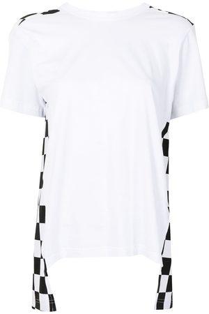 Comme des Garçons Women Short Sleeve - Checkerboard-print panelled T-shirt