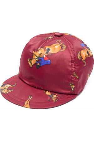 VERSACE Women Caps - Horse-print baseball cap