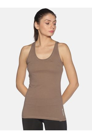 Soul Space Women Taupe Tank Top