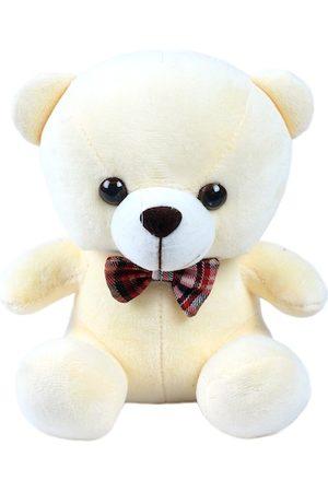 DukieKooky Kids Cream-Toned & White Teddy Bear With Bow Tie Soft Toy