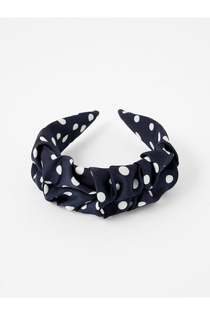 Accessorize Women Navy Blue & White Printed Hairband
