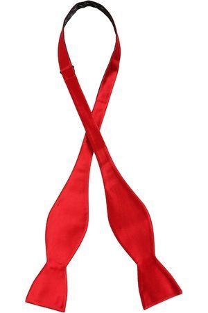 Alvaro Castagnino Men Bow Ties - Men Red Solid Bow Tie