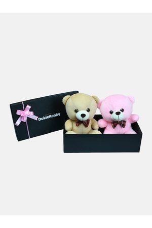 DukieKooky Kids Pack of 2 Teddy Bears with Bow Tie Gift Pack