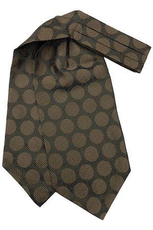 The Tie Hub Men Brown & Black Woven Design Cravat