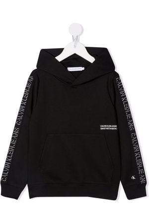 Calvin Klein Boys Hoodies - Logo tape hoodie