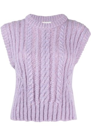 FORTE FORTE Sleeveless cable-knit top