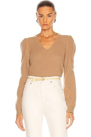 Frame Long Sleeve Frankie Sweater in Cafe Au Lait