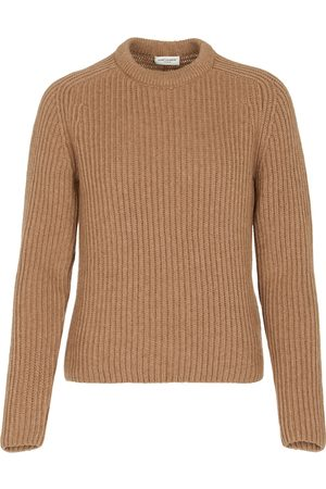 Saint Laurent Women Jumpers - Exclusive to Mytheresa – Camel hair sweater