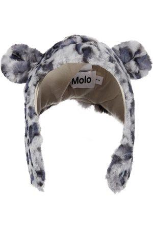 Molo Hats - Snowy leopard-print faux fur hat