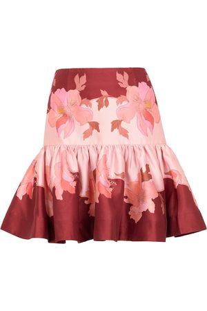 ZIMMERMANN Women Rainwear - Concert floral wool and silk miniskirt