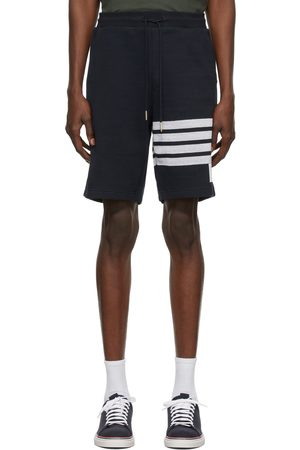 Thom Browne Navy Double-Face 4-Bar Stripe Shorts