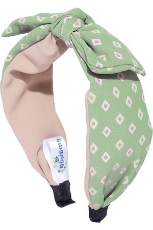Blueberry Women Green Printed Knot Hairband