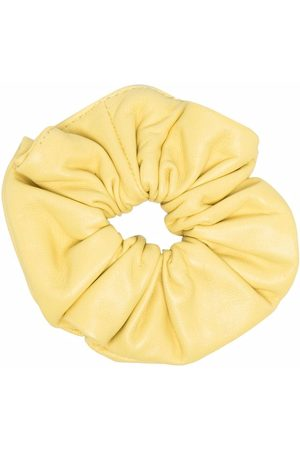 Manokhi Women Hair Accessories - Elasticated ruched leather scrunchie