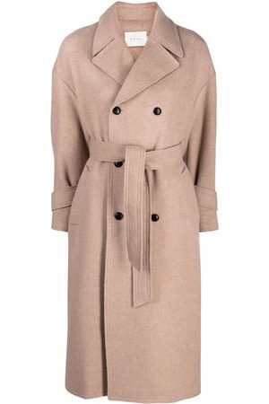 NEUL Women Trench Coats - Double-breasted belted trenchcoat