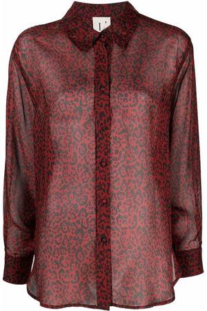L'Autre Chose Women Long Sleeve - Leopard-print silk shirt