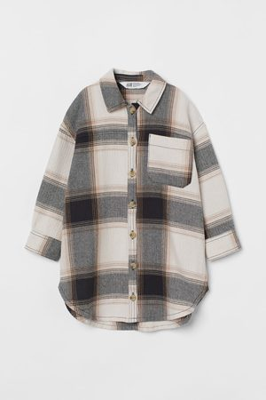 H&M Girls Shirts - Long cotton shirt jacket